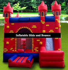 Castle Bounce House Slide Obstacle